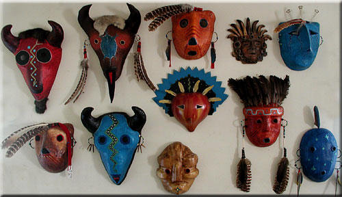 Native American Tribal Masks http://elstudiogranados.com/Masks.htm
